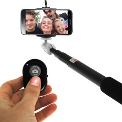 Mayoreo: Palo Selfie Stick Con Control Bluetooth para Iphone 4/4s/5/5s/6/6p y Android