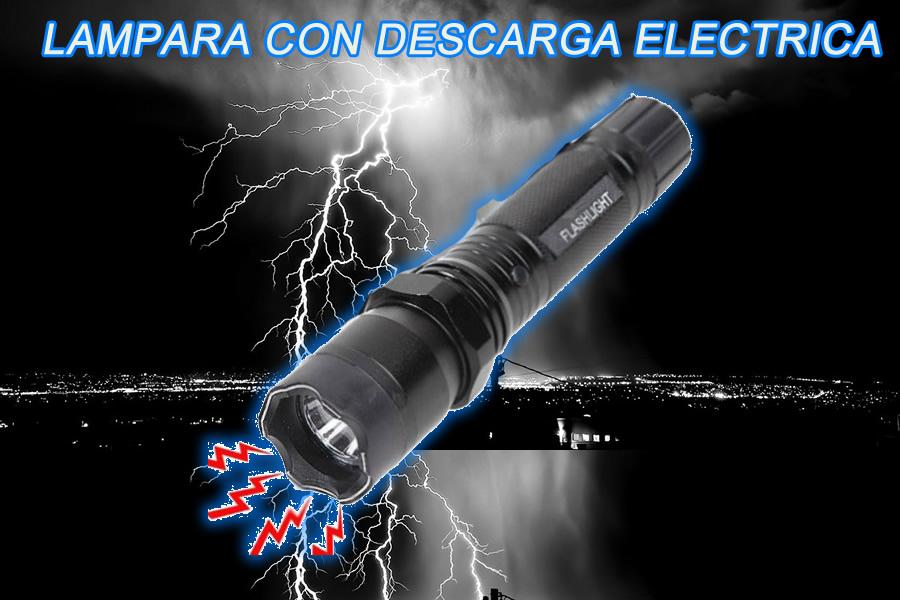 lampara toques electricos para defensa personal